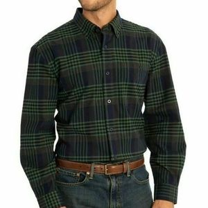 NWT ORVIS Heritage Twill Long Sleeve Plaid green